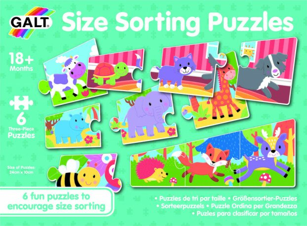 Set 6 puzzle - Animalute jucause (3 piese)